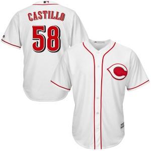 Luis Castillo Cincinnati Reds Replica Cool Base Home Majestic Jersey - White