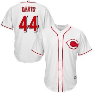 Eric Davis Cincinnati Reds Replica Cool Base Home Majestic Jersey - White