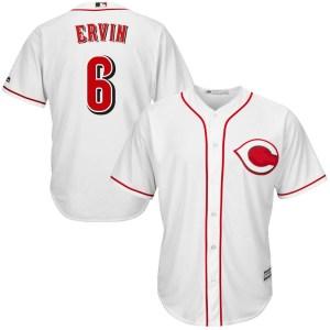 Phillip Ervin Cincinnati Reds Replica Cool Base Home Majestic Jersey - White