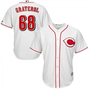 Juan Graterol Cincinnati Reds Replica Cool Base Home Majestic Jersey - White
