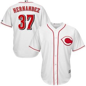 David Hernandez Cincinnati Reds Replica Cool Base Home Majestic Jersey - White