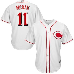 Hal Mcrae Cincinnati Reds Replica Cool Base Home Majestic Jersey - White