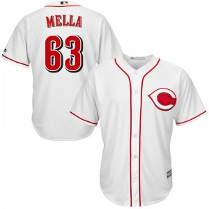 Keury Mella Cincinnati Reds Replica Cool Base Home Majestic Jersey - White