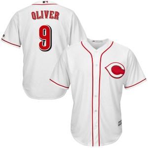 Joe Oliver Cincinnati Reds Replica Cool Base Home Majestic Jersey - White