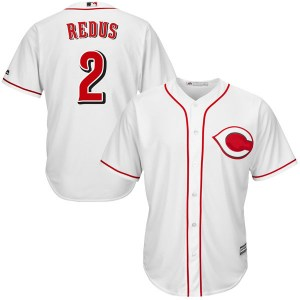 Gary Redus Cincinnati Reds Replica Cool Base Home Majestic Jersey - White