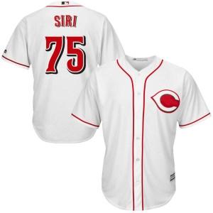 Jose Siri Cincinnati Reds Replica Cool Base Home Majestic Jersey - White