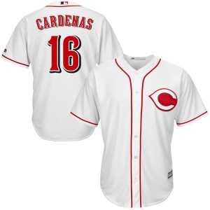 Leo Cardenas Cincinnati Reds Youth Replica Cool Base Home Majestic Jersey - White