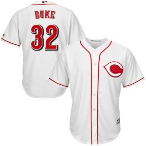 Zach Duke Cincinnati Reds Youth Replica Cool Base Home Majestic Jersey - White