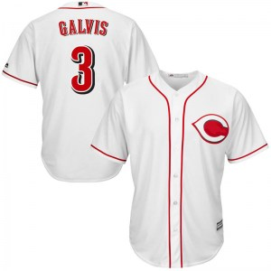 Freddy Galvis Cincinnati Reds Youth Replica Cool Base Home Majestic Jersey - White