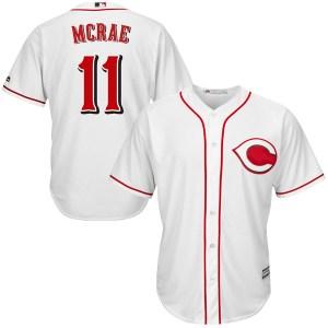 Hal Mcrae Cincinnati Reds Youth Replica Cool Base Home Majestic Jersey - White