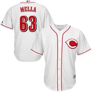 Keury Mella Cincinnati Reds Youth Replica Cool Base Home Majestic Jersey - White