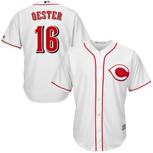 Ron Oester Cincinnati Reds Youth Replica Cool Base Home Majestic Jersey - White