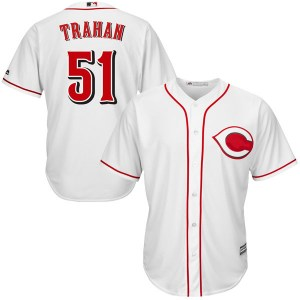 Blake Trahan Cincinnati Reds Youth Replica Cool Base Home Majestic Jersey - White