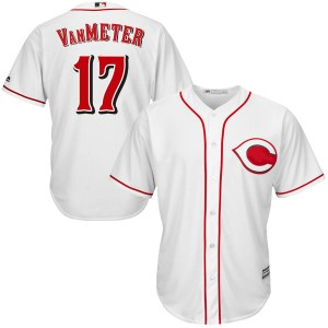 Josh VanMeter Cincinnati Reds Youth Replica Cool Base Home Majestic Jersey - White