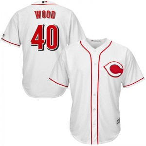 Alex Wood Cincinnati Reds Youth Replica Cool Base Home Majestic Jersey - White
