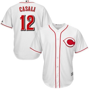Curt Casali Cincinnati Reds Youth Authentic Cool Base Home Majestic Jersey - White