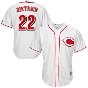Derek Dietrich Cincinnati Reds Youth Authentic Cool Base Home Majestic Jersey - White