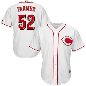 Kyle Farmer Cincinnati Reds Youth Authentic Cool Base Home Majestic Jersey - White