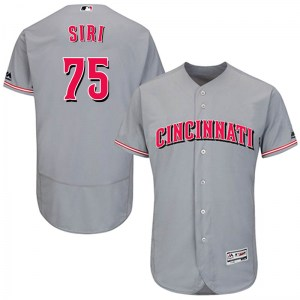 Jose Siri Cincinnati Reds Authentic Flex Base Road Collection Majestic Jersey - Gray