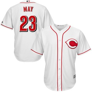 Lee May Cincinnati Reds Authentic Cool Base Home Majestic Jersey - White