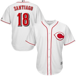 Benito Santiago Cincinnati Reds Authentic Cool Base Home Majestic Jersey - White