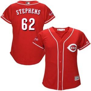Jackson Stephens Cincinnati Reds Women's Replica Cool Base Alternate Majestic Jersey - Red