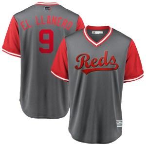 "Jose Peraza Cincinnati Reds Replica ""EL LLANERO"" Gray/ 2018 Players' Weekend Cool Base Majestic Jersey - Red"