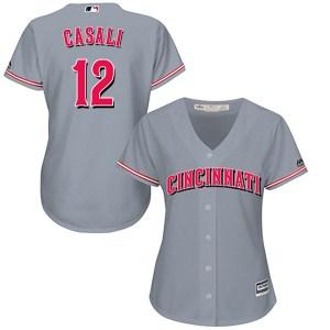 Curt Casali Cincinnati Reds Women's Replica Cool Base Road Majestic Jersey - Gray