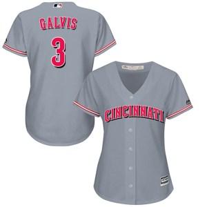 Freddy Galvis Cincinnati Reds Women's Replica Cool Base Road Majestic Jersey - Gray