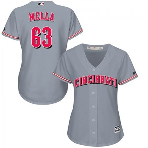 Keury Mella Cincinnati Reds Women's Replica Cool Base Road Majestic Jersey - Gray