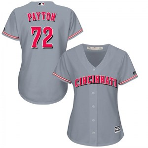 Mark Payton Cincinnati Reds Women's Replica Cool Base Road Majestic Jersey - Gray
