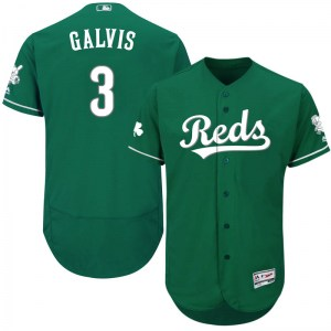 Freddy Galvis Cincinnati Reds Authentic Flex Base Celtic Collection Majestic Jersey - Green