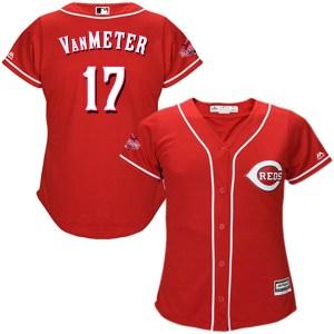 Josh VanMeter Cincinnati Reds Women's Authentic Cool Base Alternate Majestic Jersey - Red