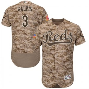 Freddy Galvis Cincinnati Reds Youth Authentic Flex Base Alternate Collection Majestic Jersey - Camo