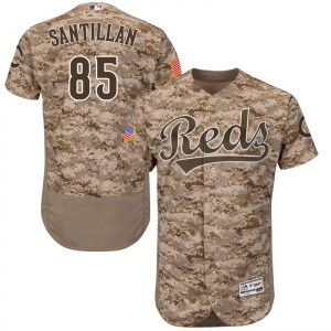 Tony Santillan Cincinnati Reds Youth Authentic Flex Base Alternate Collection Majestic Jersey - Camo
