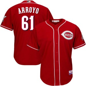 Bronson Arroyo Cincinnati Reds Youth Replica Cool Base Alternate Majestic Jersey - Red