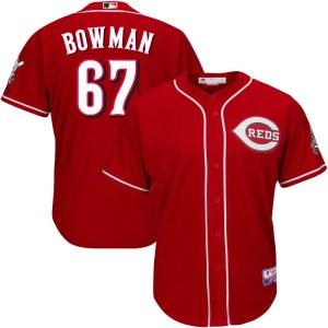 Matt Bowman Cincinnati Reds Youth Replica Cool Base Alternate Majestic Jersey - Red