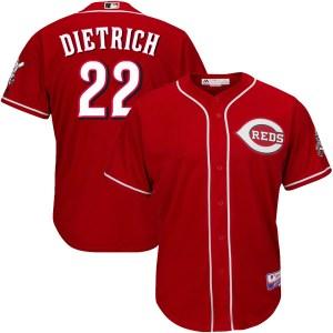 Derek Dietrich Cincinnati Reds Youth Replica Cool Base Alternate Majestic Jersey - Red