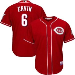 Phillip Ervin Cincinnati Reds Youth Replica Cool Base Alternate Majestic Jersey - Red