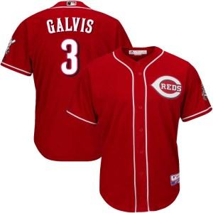 Freddy Galvis Cincinnati Reds Youth Replica Cool Base Alternate Majestic Jersey - Red
