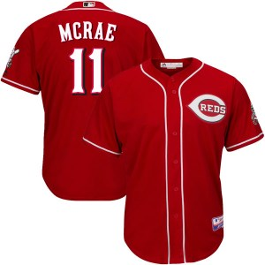 Hal Mcrae Cincinnati Reds Youth Replica Cool Base Alternate Majestic Jersey - Red