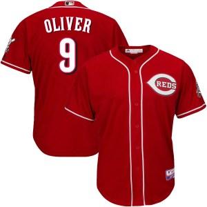 Joe Oliver Cincinnati Reds Youth Replica Cool Base Alternate Majestic Jersey - Red
