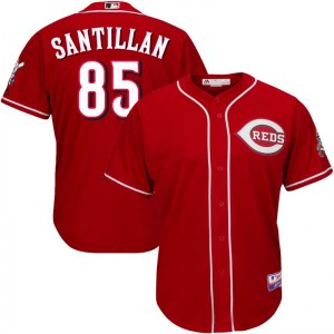 Tony Santillan Cincinnati Reds Youth Replica Cool Base Alternate Majestic Jersey - Red