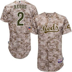 Gary Redus Cincinnati Reds Authentic Cool Base Camo Alternate Majestic Jersey - Red