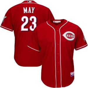 Lee May Cincinnati Reds Authentic Cool Base Alternate Majestic Jersey - Red
