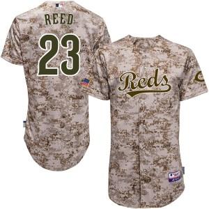 Cody Reed Cincinnati Reds Replica Cool Base Alternate Majestic Jersey - Camo