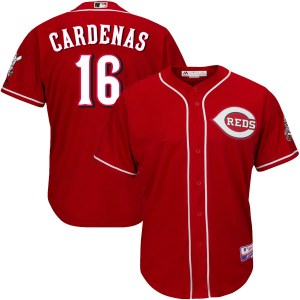 Leo Cardenas Cincinnati Reds Youth Authentic Cool Base Alternate Majestic Jersey - Red