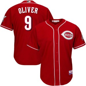 Joe Oliver Cincinnati Reds Youth Authentic Cool Base Alternate Majestic Jersey - Red