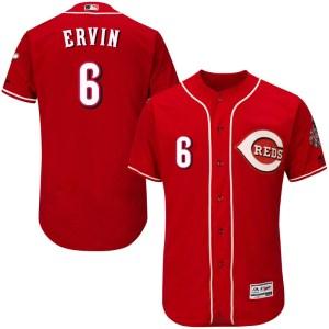 Phillip Ervin Cincinnati Reds Authentic Flex Base Alternate Collection Majestic Jersey - Red