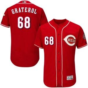 Juan Graterol Cincinnati Reds Authentic Flex Base Alternate Collection Majestic Jersey - Red